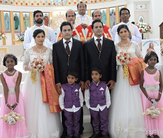Dinker And Dilraj Varikkassery Identical Twins Brothers Had A Double Wedding However Thats Not The Interesting Part Of This Story