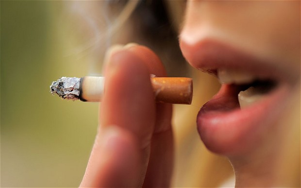 destroying your health by smoking cigarettes