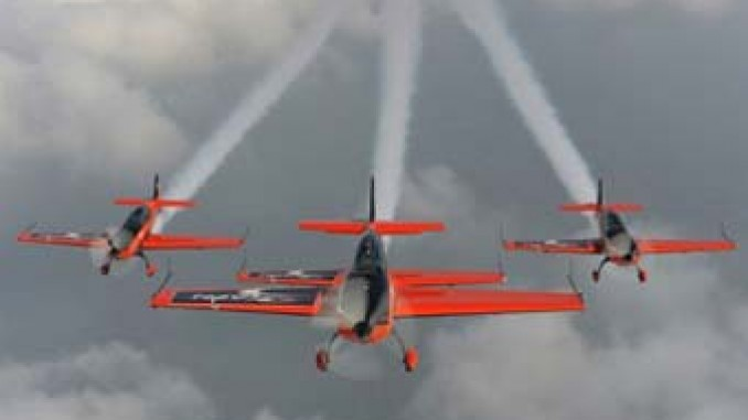 Watching the skies: Organisers say 50,000 people have turned out to watch Bray Airshow