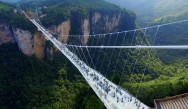 Afraid of heights? Then don't look down through this bridge with glass floor