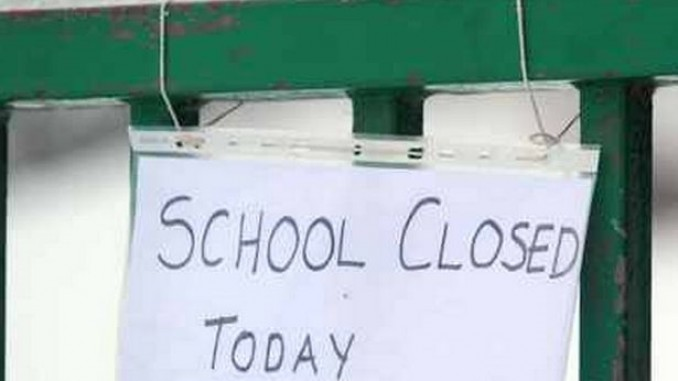Schools out: Hundreds of secondary schools to remain closed this morning as teachers begin first day of strike action