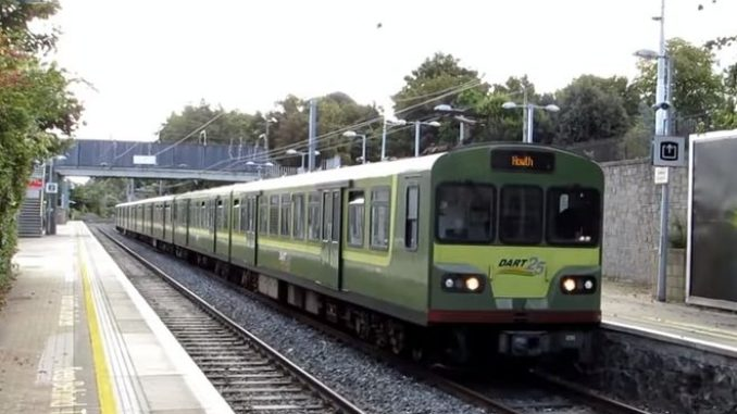 Commuters in Dublin face week-long disruption after fire on the DART line