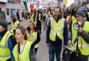 Fighting back: #YellowVest protesters have demanded the resignation of Taoiseach Leo Varadkar