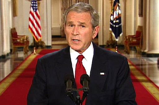 George W Bush says borders are not imaginary and that they ...